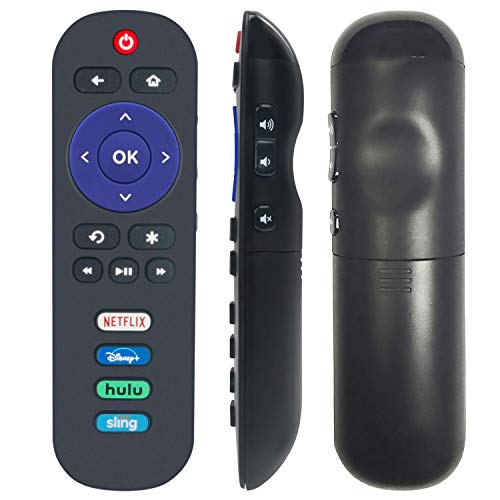 WRC280J Replacement Remote fit for TCL Roku TV 50S423 32S325 55S423 65S425 43S525 32S327 40S325 55S425 49S403 65S405 49S515 65S423 40S305 43S325 43S425 43S423 75S435 with Netflix Disney+ HULU Sling