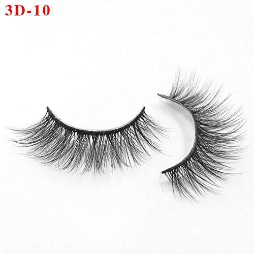 XZY False Eyelashes Fake Lashes Long Makeup Lashes Extension Eyelash Eyelashes for Beaut,Black & Silver