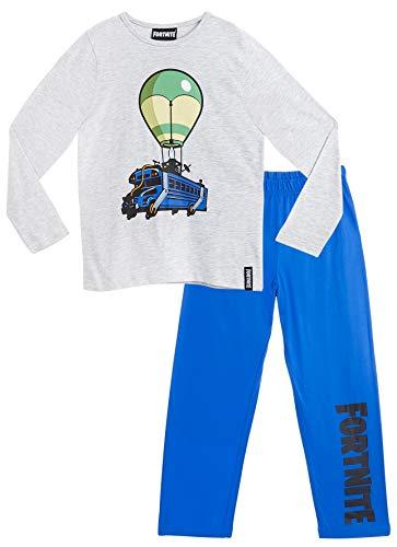 Fortnite Pijama Niño, Pijamas Niños con Diseño Battle Bus, Conjunto Niño Verano, Ropa Niño para Dormir, Regalos para Niños y Adolescentes Edad 7-14 Años (7-8 años)