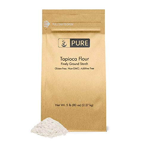 Tapioca Flour (5 lb.) by Pure Ingredients, Also Known As Tapioca Starch, Resealable Eco-Friendly Packaging, Fine White Powder, Gluten-Free, Non-GMO