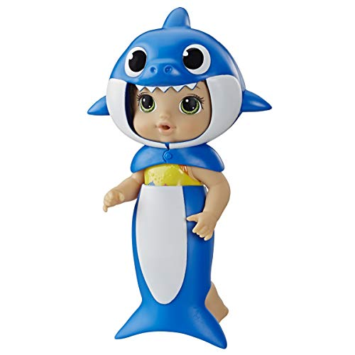 Baby Alive, Baby Shark Brown Hair Doll, with Tail & Hood, Inspired by Hit Song & Dance, Waterplay Toy for Kids Ages 3 Years Old & Up (Amazon Exclusive)