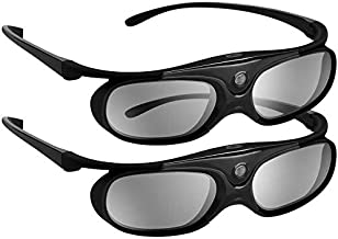 DLP 3D Glasses 144Hz Rechargeable 3D Active Shutter Glasses for All DLP-Link 3D..