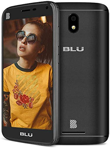 BLU C5L Android Cell Phone 5'' 16GB Memory Factory Unlocked 5.0'' Display -Black