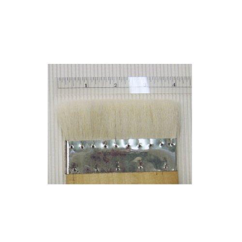 Yasutomo Hake Flat Wash Brush with Metal Ferrule, Sheep Hair Bristles, 3 7/8 inch (BFC6)