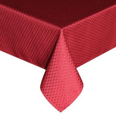 BLUELSS Nappe Polyester rouge à carreaux épais tapis de table Table de salle à manger de l'hôtel couvrent étanche solide mariage nappe en DecorationRed60x84 cm