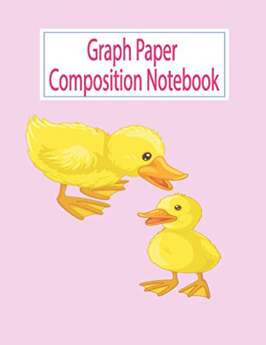 Graph book Composition Notebook: Father Goose and Ducklings Notebook - Math Graph Composition Book, 4 x 4 Quad Ruled (8.5