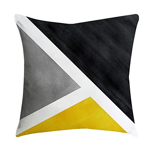 Sonojie Geometric Art Creative Cushion Cover Pillowcase Square Decoration Set, Sofa Chair Office Home Accessories Living Room Bedroom Indoor and Outdoor Cushion Cover-Invisible Zipper Series