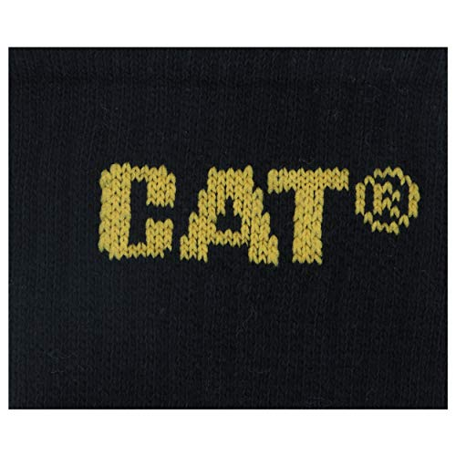 6 Pairs Caterpillar CAT Men's Works Socks (Black, 11-14)