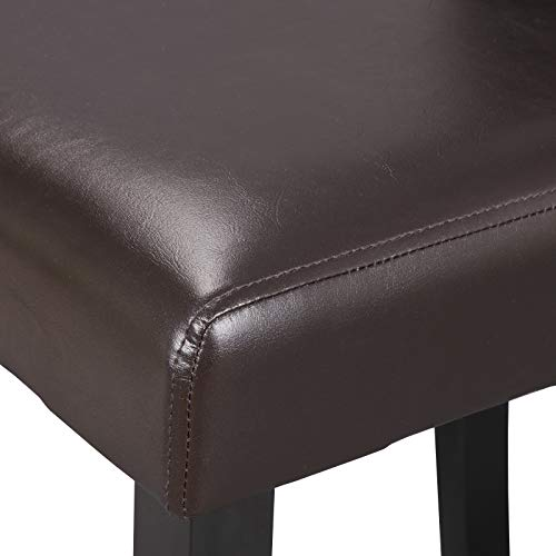 ZENY Leather Dining Chairs with Wood Legs Chair Urban Style, Set of 6