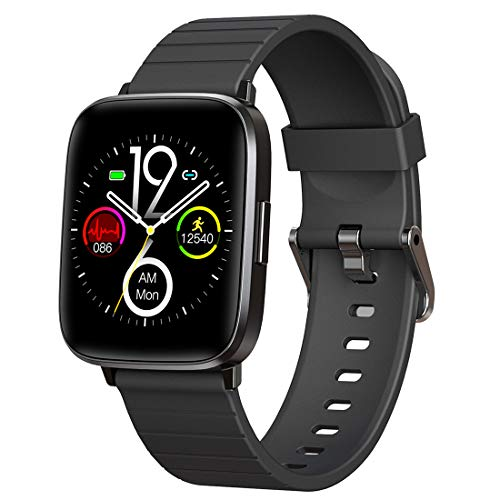 Mgaolo Fitness Tracker Smart Watch with Blood Pressure Heart Rate Sleep Monitor for Men and Women,Touch Screen 11 Sport Modes Waterproof Activity Tracker with Pedometer for Fitbit Android iPhone Black