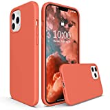 SURPHY Silicone Case Compatible with iPhone 12 Pro Max Case 6.7 inches, Liquid Silicone Phone Case (with Microfiber Lining) Designed for iPhone 12 Pro Max 2020 (Nectarine)