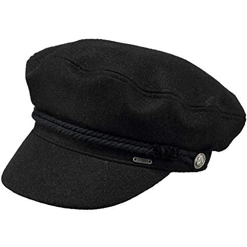 Barts Damen Skipper Cap Baskenmütze, Schwarz (Black 0001), One Size (Herstellergröße: Uni)