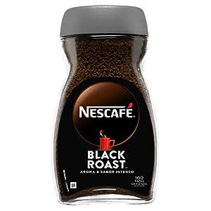 NESCAFÉ BLACK ROAST aroma y sabor intenso, café soluble, 100 % café, frasco de vidrio, 200 g