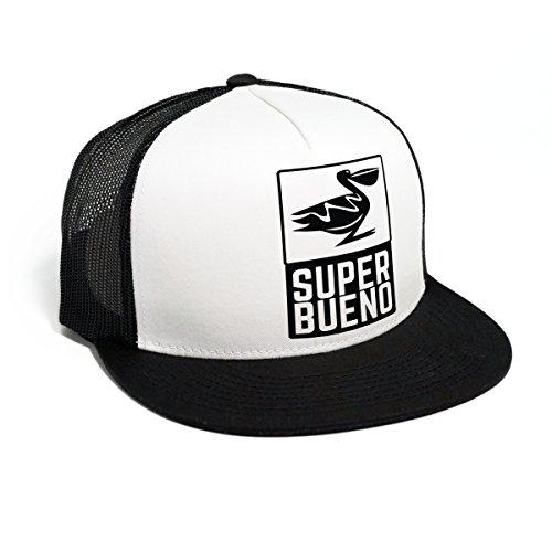 DEPARTED Herren Mesh Trucker Hat mit Print/Aufdruck - Snapback Cap - No. 57, Black/White