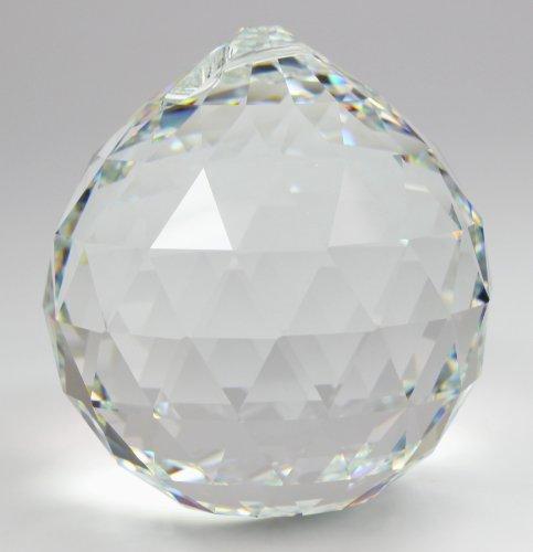 Kristallset: Kristall Kugel 30mm von Swarovski Kristalle mit Rieser® Aufhängeset Feng Shui Kristallglas Set