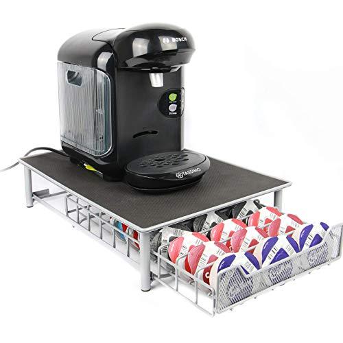 Maison & White Tassimo Kaffeekapseln Halter | Für Lagerung von 60 Kapseln | Rutschfeste Oberfläche | Tassimo Pad Halter - Grau