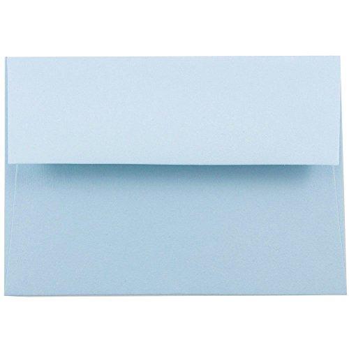JAM PAPER Sobres de Invitación - 133,3 x 184,1 mm - Azul Bebé - Paquete de 50