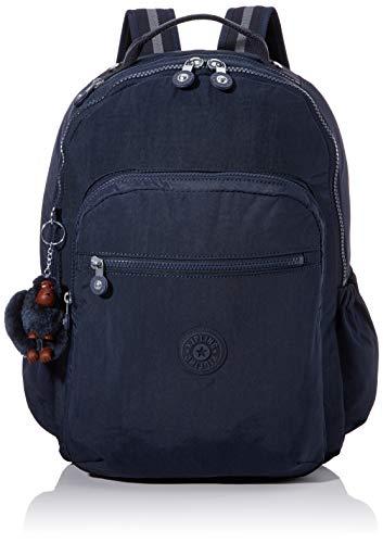 Kipling Seoul Go School Backpack, 44 cm, 27 Litres, Blue (True Tonal)