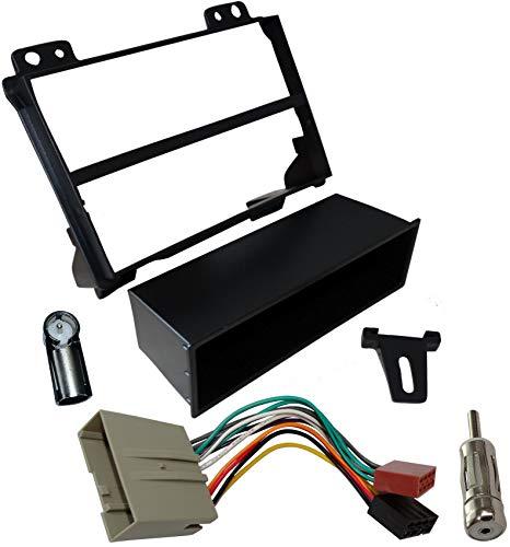 AERZETIX: Marco adaptador kit 1DIN cubierta plástica moldeado para el cambio de autoradio original con un radio estándar del coche vehículos automóvil