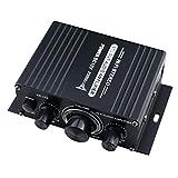 KERDEJAR 400W DC12V Mini Amplificador de Potencia AUX de Doble Canal HiFi para AK 170 con luz LED Azul Car Home Club Party Music