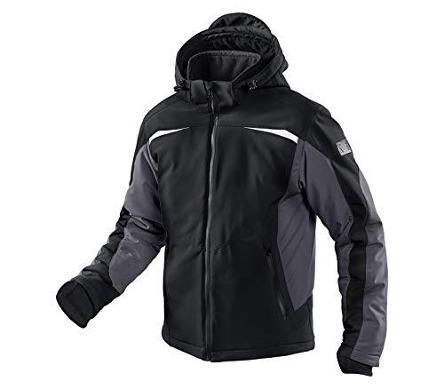 KÜBLER WEATHER Softshelljacke schwarz, Größe M, Unisex-Arbeitsjacke aus Mischgewebe, wind- und wasserabweisende Softshelljacke von KÜBLER Workwear