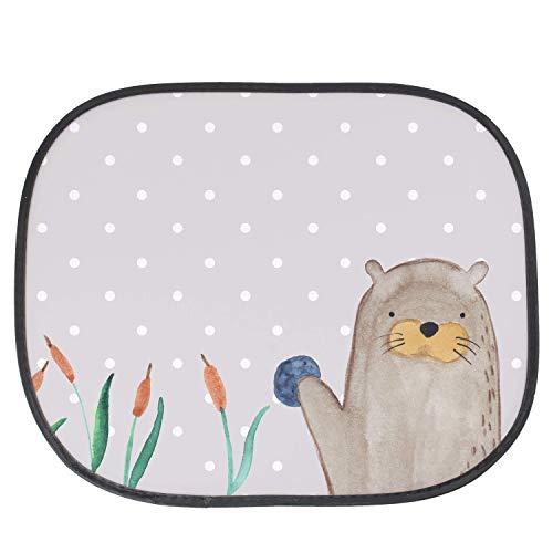 Mr. & Mrs. Panda Familie, Kinder, Auto Sonnenschutz Otter mit Stein - Farbe Grau Pastell
