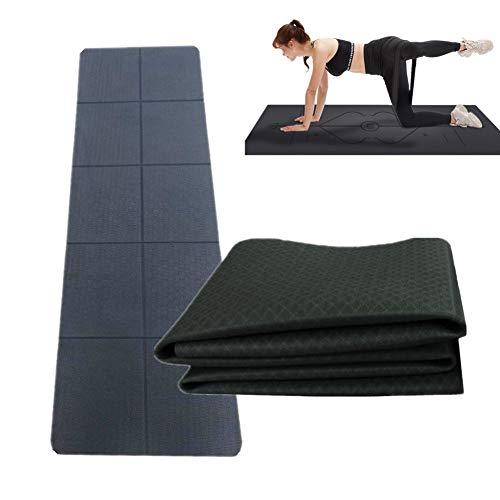 KANKOO tappetino yoga da viaggio nero (183 x 61 x 0,4 cm)