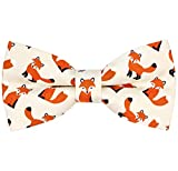 OCIA Pattern Bow Tie Pre-tied Adjustable Bowtie for Mens & Boys - Various Patterns Fox M - (6yrs to Young Adults)
