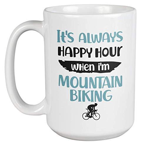 Funny Mountain Biking Coffee & Tea Mug Cup or Mountain Bike Themed Stuff (15oz)