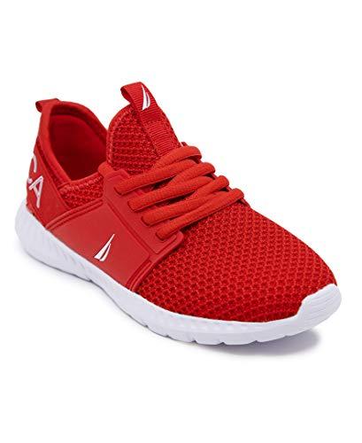 Nautica Men's Casual Fashion Sneakers-Walking Shoes-Lightweight Joggers-Rainey 2-Red-12