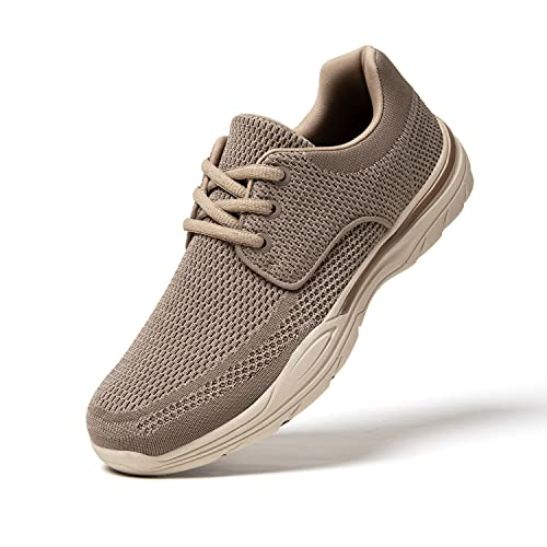 Zapatos de Cordones Hombre Vestir Casual Zapatillas Deportivas Running Sneakers Corriendo Transpirable Marrón 43