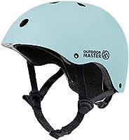 OUTDOORMASTER 子供用自転車ヘルメット こども ヘルメット 幼児 子供 スポーツヘルメットCPSC安全規格 ASTM安全規格 軽量 通気性 3D保護クッション 置換クッションおまけ 取り出し可能 洗濯可能 全方位調整アジャスター...