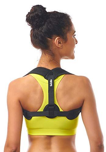 """Posture Corrector for Women Men - Posture Brace - Adjustable Back Straightener - Discreet Back Brace for Upper Back - Comfortable Posture Trainer for Spinal Alignment (25"""" - 53"""")"""
