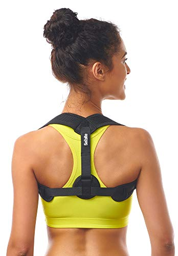 Posture Corrector for Women Men - Posture Brace - Adjustable Back Straightener - Discreet Back Brace for Upper Back - Comfortable Posture Trainer for Spinal Alignment (25' - 53')