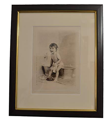 The Vinage Photo Store Encadrée Impressions de Scenes de Bain Vintage Mignon Images pour Salle de Bain Art Mural Anciennes Photos Boîte de Bain