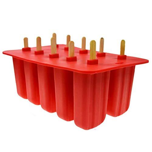 1pc 10 Rejillas De Helado De Paleta De Hidromasaje Fabricante De La Bandeja De Silicona Nevera Popsicle Configuradora del Molde Suministros De Cocina