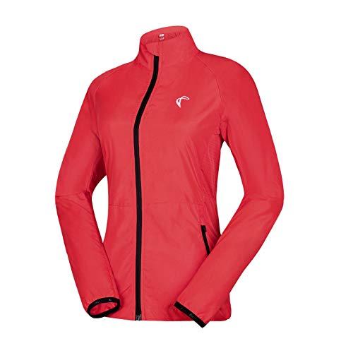 J. Carp de las mujeres chaqueta cortavientos para hombre, ligero y resistente al agua, activa ciclismo running piel abrigo, Rojo rosa
