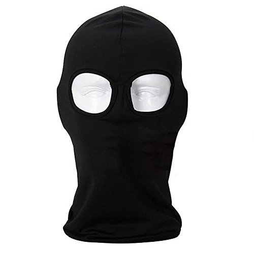 Ultra Thin Lycra Face Mask - UV Protection Balaclava Full Face Mask for Cycling, Running, Skiing Outdoor Sports Black