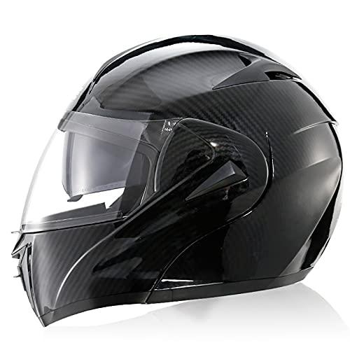 Casco Integral para Motocicleta, Aprobado por Dot/ECE, Motocicleta, ciclomotor, Bicicleta de Calle, Casco de protección, para Hombres y Mujeres A,XL