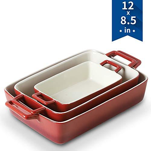 Bakeware Set, KOOV Ceramics Baking Dish, Rectangular.