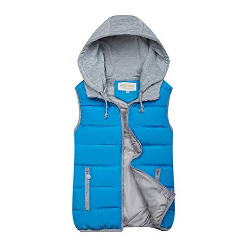 QIQIU Womens Warm Rits Zakken 10 Kleuren Hoodie Gewatteerde Kleur Blok Herfst Winter Vest Jas Mode Casual Jas