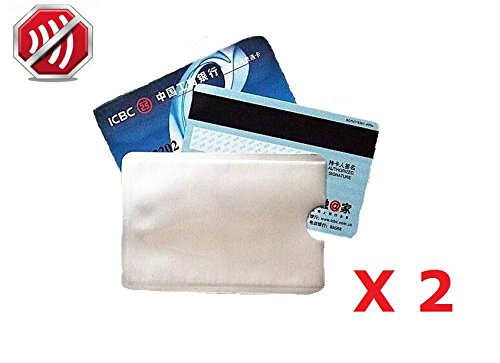 Lot de 2 - Protège Carte Anti-RFID/PAIEMENT sans Contact Carte Bleue visa mas.