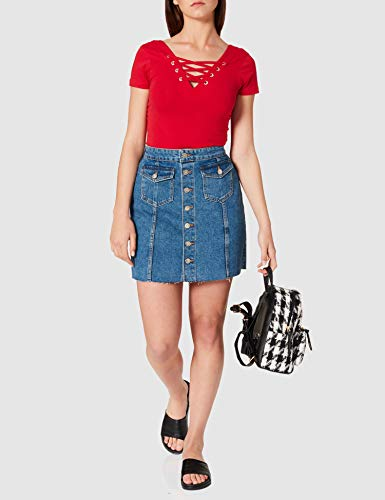 Only ONLLAGUNA Life HW Button Skirt DNM PIM Falda, Medio De Mezclilla Azul, S para Mujer