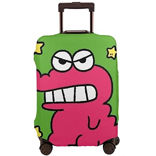 Funda de equipaje lavable Maleta Protector Anti-arañazos Maleta Cubierta Verde Lindo Cartoon Frog Fits25-28Inch Maleta