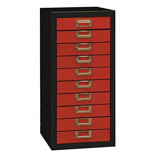 ADB Schubladenschrank Werkzeugschrank Schubladenbox mit 10 Schubladen 630x275x340mm, aus Metall,...
