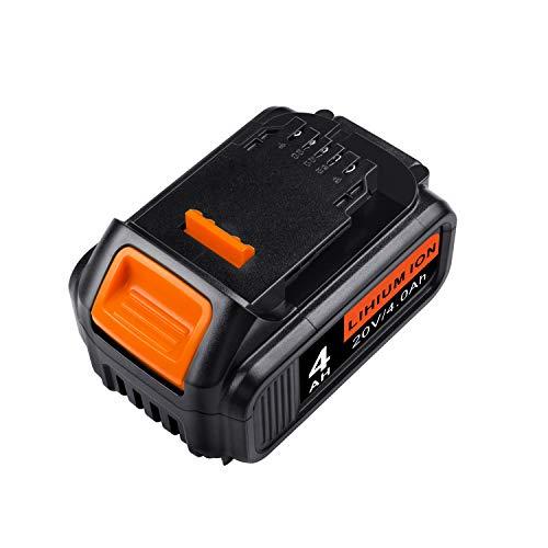 ARyee 20V 4.0Ah DCB204 Batería de herramienta inalámbrica compatible con DeWalt DCB180...
