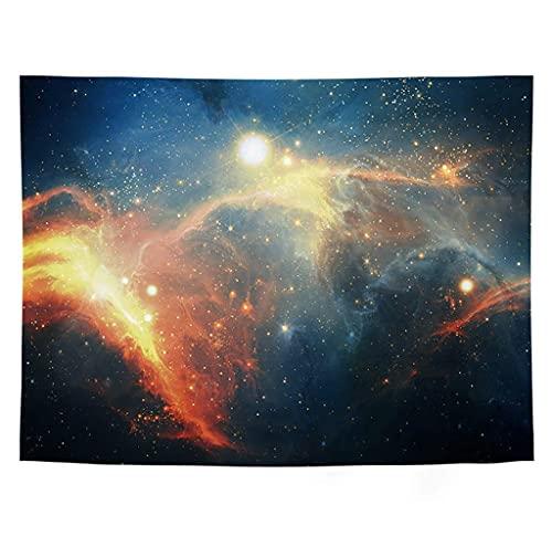 QWERY tapizFondo de Tapiz de Cielo Estrellado Fondo de Tela Fondo de Pared Habitación de Alquiler Decoración de cabecera Tapiz Colgante de Pared