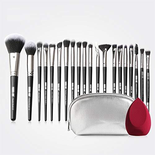 Brosse De Maquillage Professionnel 20 Pcs Débutant Brosse De Maquillage Pratique De L'école Avec Pack Brosse PU,2