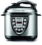 Mondial PE-09 - Panela Eletrônica de Pressão Pratic Cook 4L, Preto/Prata