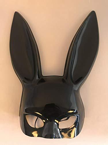 JRKJ Maskenhalloween-Ostern-Nachtklubstangen-Kaninchenmaskentanzparty-Halbes Gesichtskaninchen